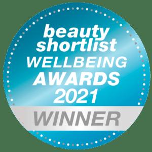 beauty shortlist awards 2021 - wellbeing winner